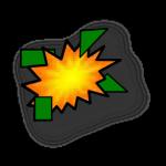 Exploded mine